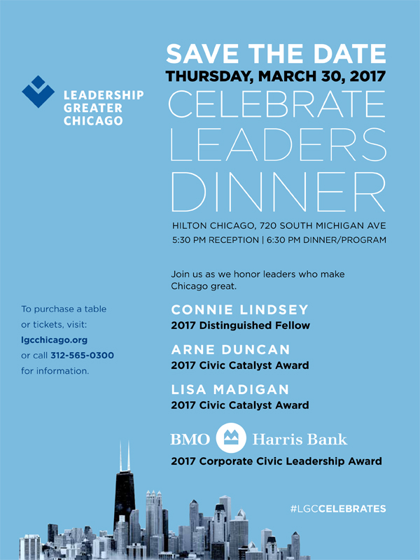 Celebrate Leaders Dinner Save the Date flyer
